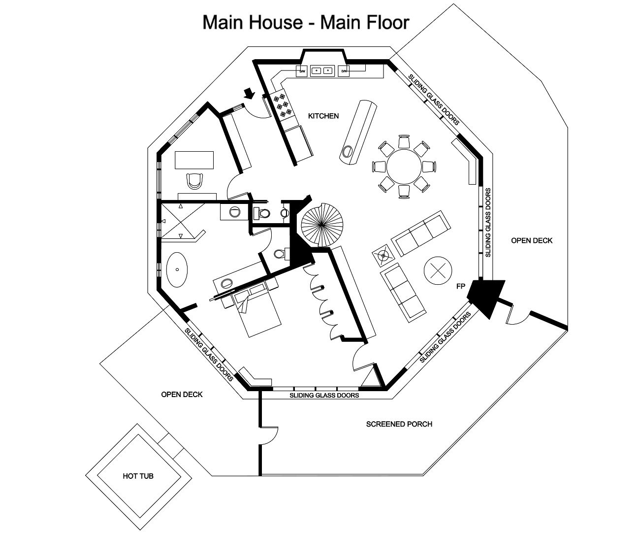 Octagon House Plans Treehouse Pinned By Www Modlar Com Octagon House Cabin House Plans Tree House Plans