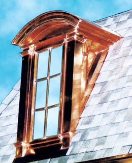 Nice Shiny Copper Beautiful Want To See This A Few Years From Now How The Metal Leaching Effects The Roof Copper Roof Dormers Copper Awning