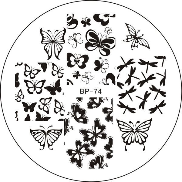 Various Butterfly Nail Art Stamping Template Image Plate BORN PRETTY ...