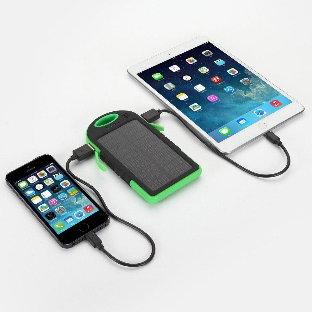 #1 Portable Solar Charger Bank - Shockproof & Waterproof