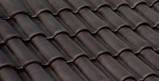 Best Roman Roof Tile Interlocking Clay Enameled Dark 400 x 300