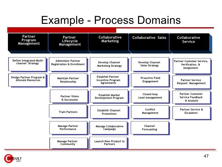 Example  Process Domains Partner Program Management Partner