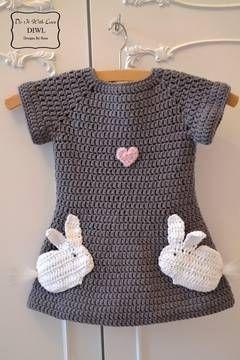 Häkelanleitung Kleid Verliebte Hasen Häkelanleitungen Bei Makerist