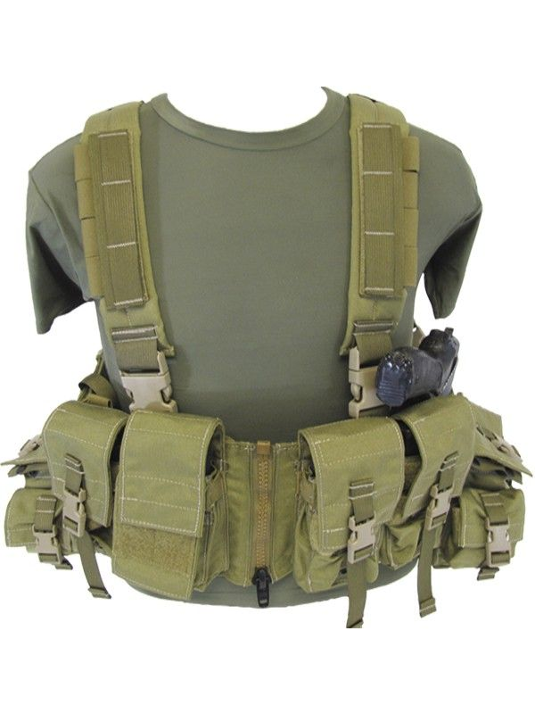 Load Bearing Chest Vest w/ Zipper - H-Harness Gear - Vests, H Gear