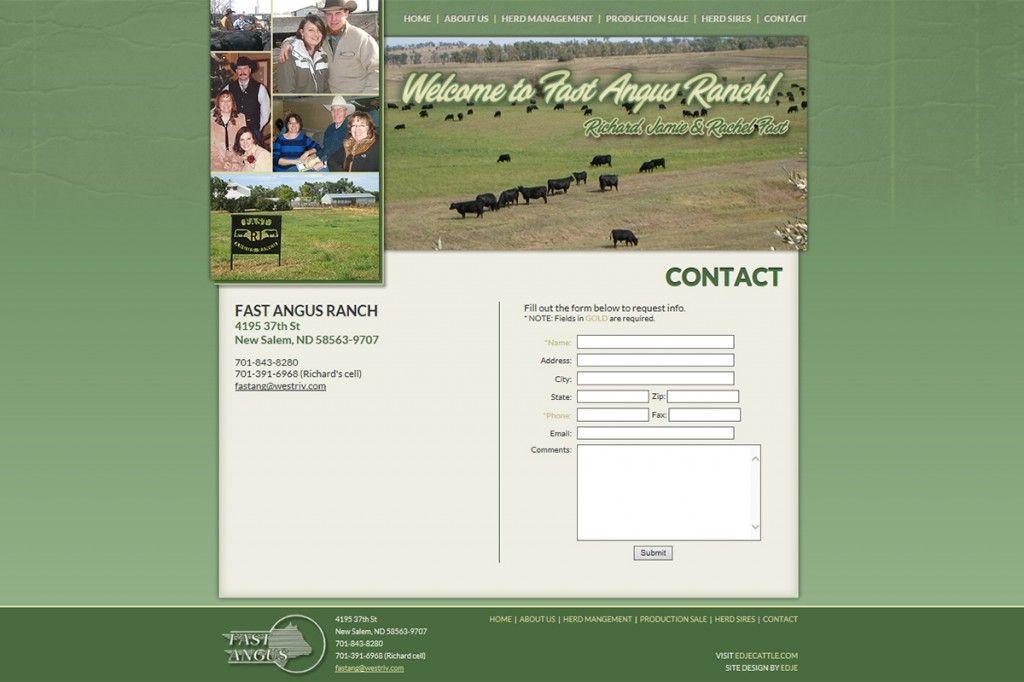 Fast Angus Ranch Website Design Ranch New Salem