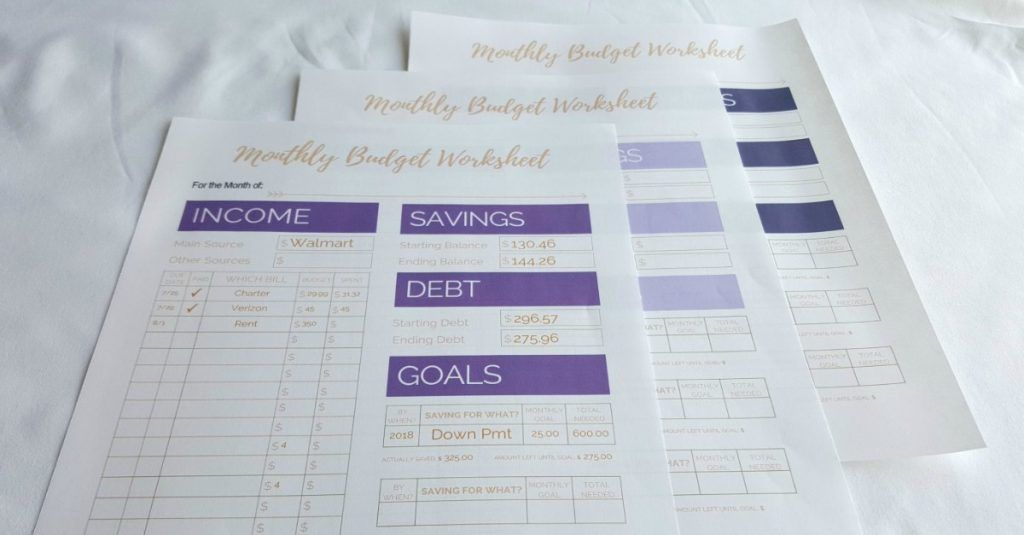 Free Printable Monthly Budget Worksheets Monthly budget, Budgeting