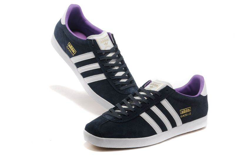 Adidas Gazelle OG Mens Midnight Navy White Club Purple G60758 #Purple # Womens #Sneakers