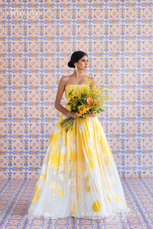 379ed859622d Blog - Wedding Decor Toronto Rachel A. Clingen Wedding Colored Wedding Gowns,  Yellow Wedding