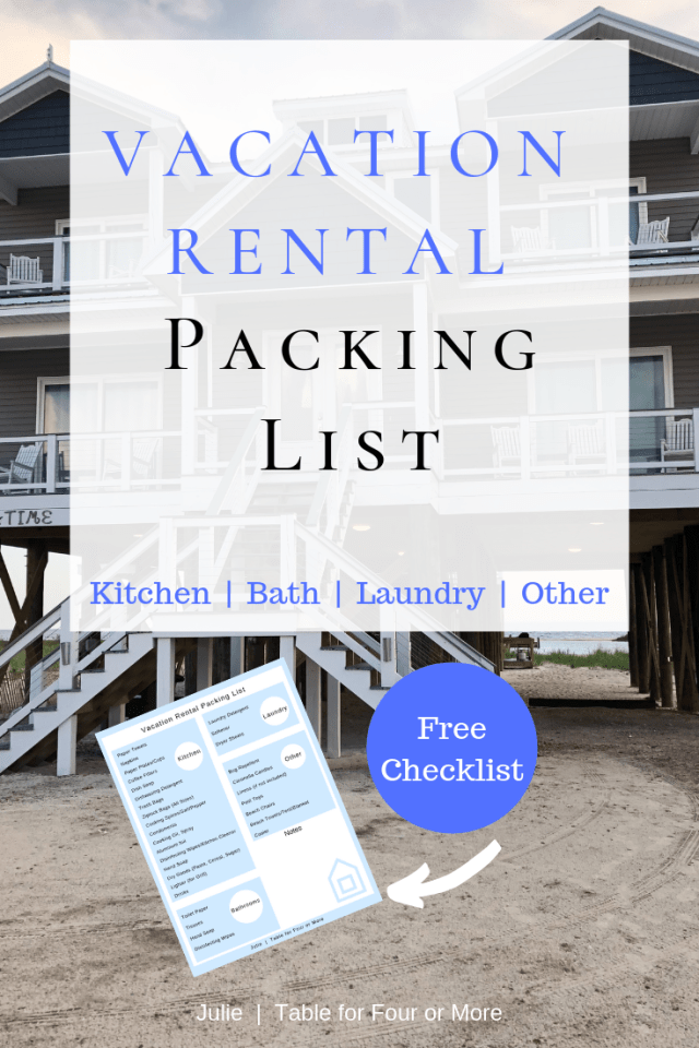 #packing #rental #table #vacation