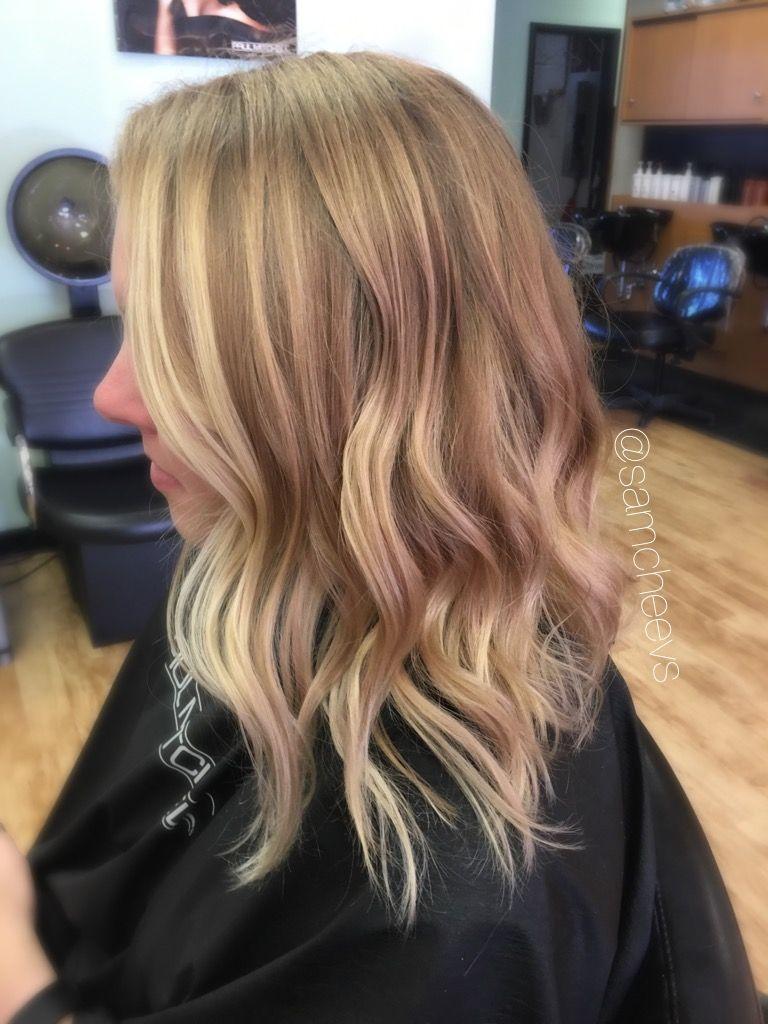 Blonde Long Bob For Medium Length Hair Blonde Highlights