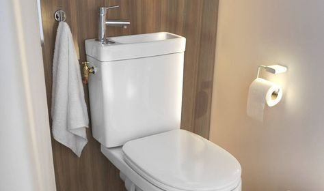 Un Wc Econome 2 En 1 Lave Main Toilette Amenagement Toilettes Deco Toilettes
