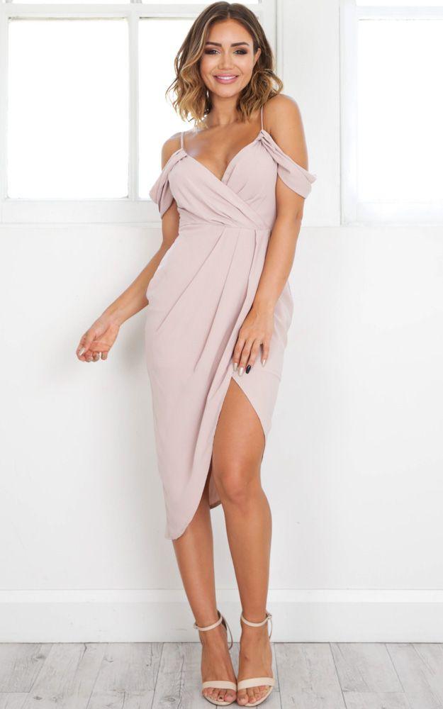 Give Me More Dress In Beige Produced #weddingguestdress