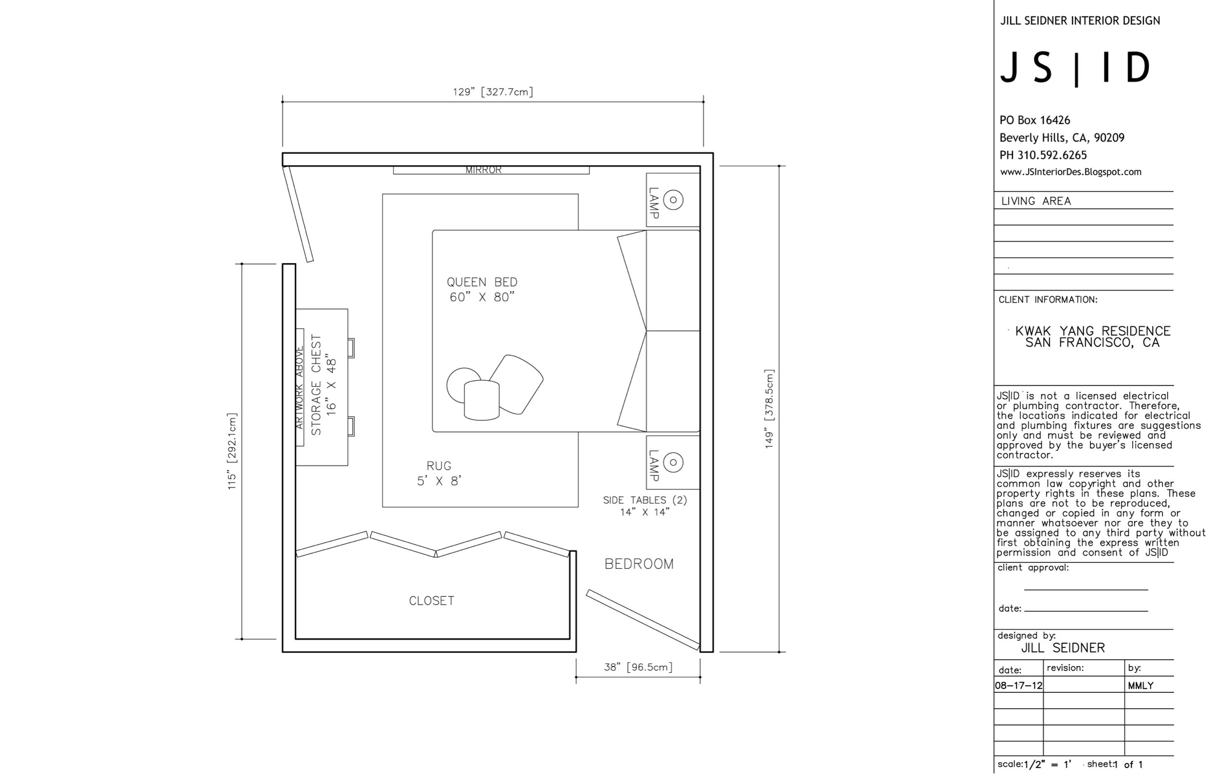 Master bedroom furniture plan - San Francisco Ca Online Design Project Master Bedroom Furniture Floor Plan Layout Option