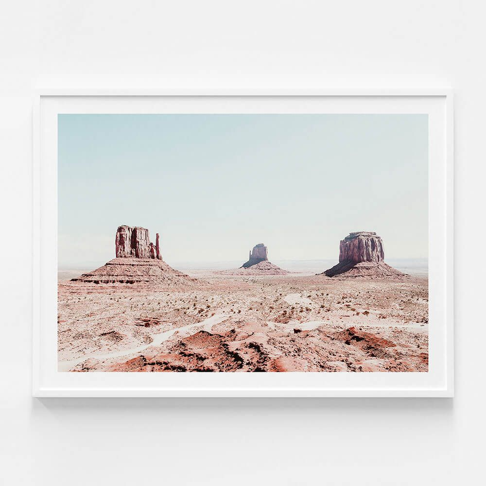 Monument Valley Poster Or Framed Print Available In 8 Sizes Shipping Australia Wide From 41 Orchard In 2020 Canvas Wall Art Large Artwork Framed Prints