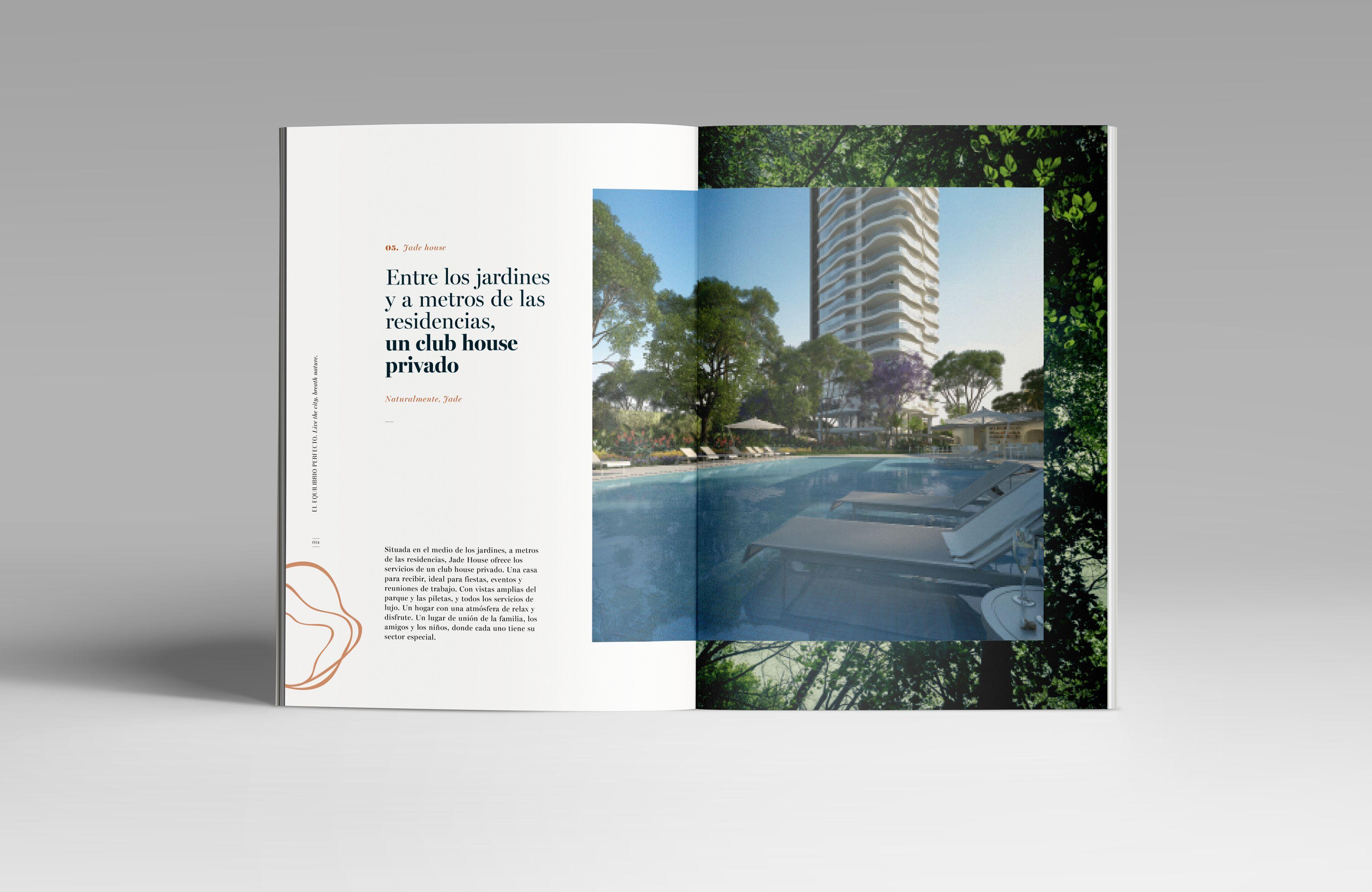 Jade Park On Behance Brochure Layout Design Branding Luxury