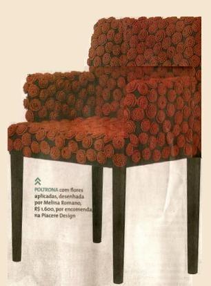 """""""FALANDO DE CROCHET"""": CADEIRAS REVESTIDAS DE FLORES DE CROCHE.. #chair_crochet  #crochet_inspiration GB"""