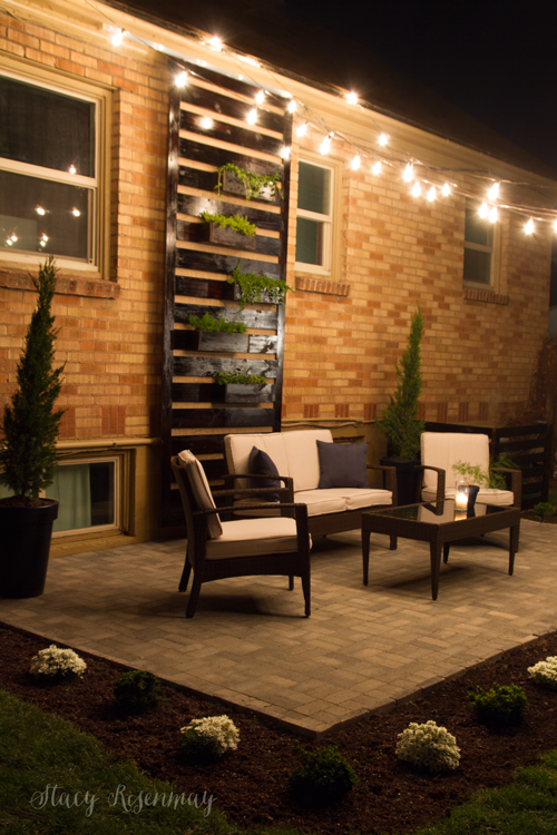 We Finally Have an Outdoor Seating Area! {DIY Paver Patio