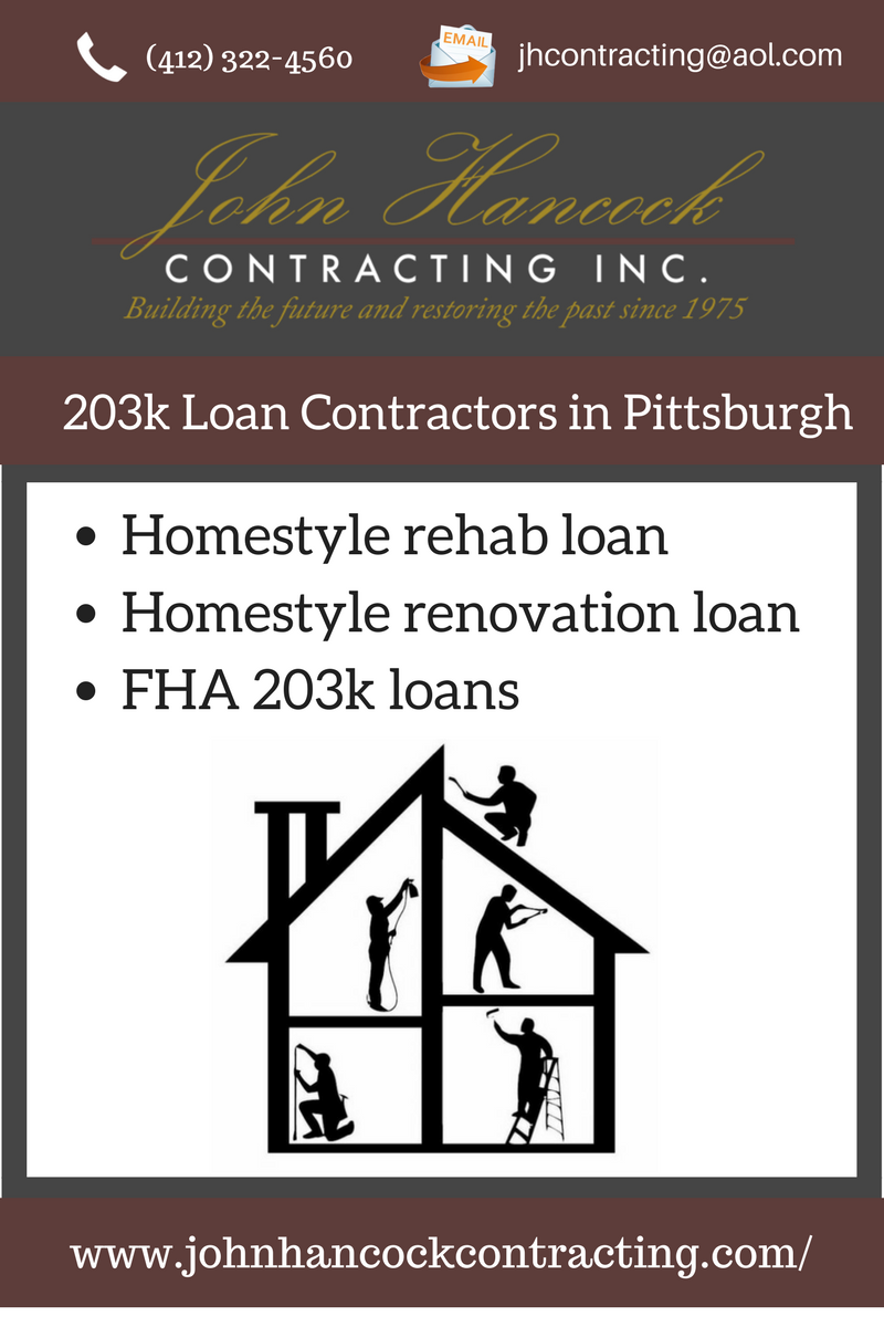 If Your Home Needs Of Repairs Or Improvements Then John Hancock Contracting Can Help You With 203k Home Improvement Loans Renovation Loans Home Renovation Loan