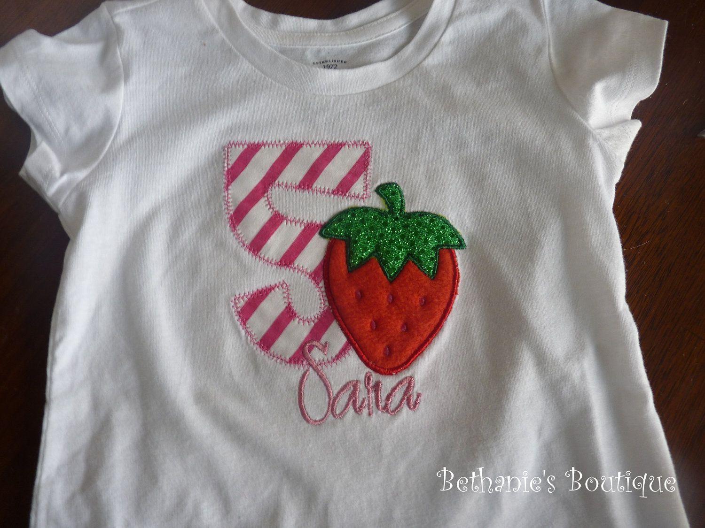 f9fcf50ca Birthday Strawberry shirt or onesie. Strawberry Shortcake theme.. $18.99,  via Etsy.