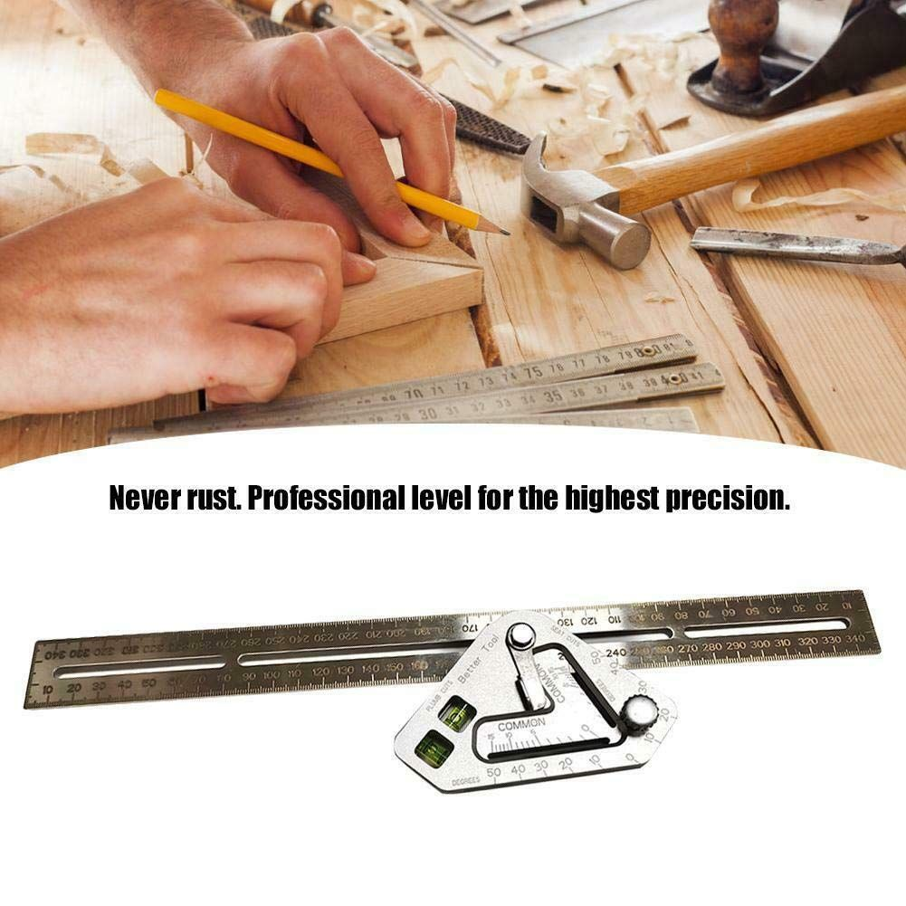 Forart Compact Carpentry Square Layout Tool For Roof Tools Multipurpose Tools Roofing Diy