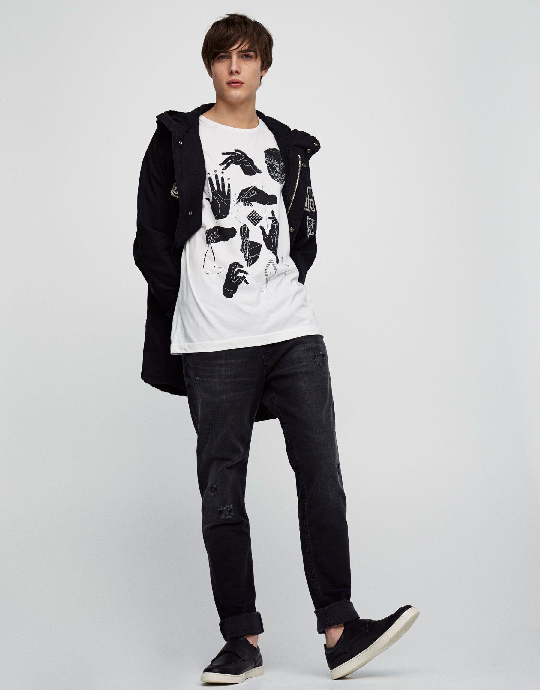 Dark wash slim fit jeans - Jeans - Clothing - Man - PULL&BEAR Israel