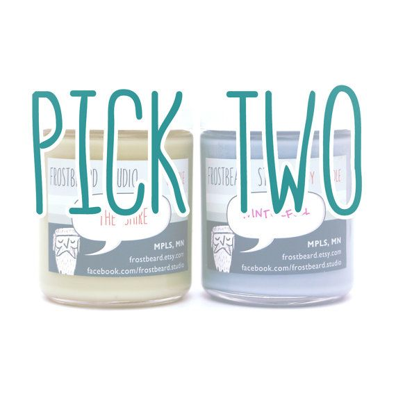Book Lovers' Scented Soy Candles -- Two Pack -- 8oz jars on Etsy, £18.12