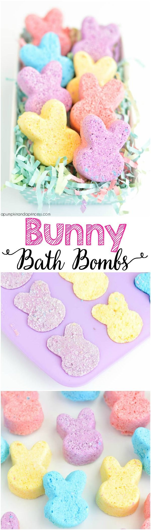 Diy bunny bath bombs from a pumpkin and a princess easter diy spa recipes would be cute in exact peep shape diy bunny bath bombs negle Images