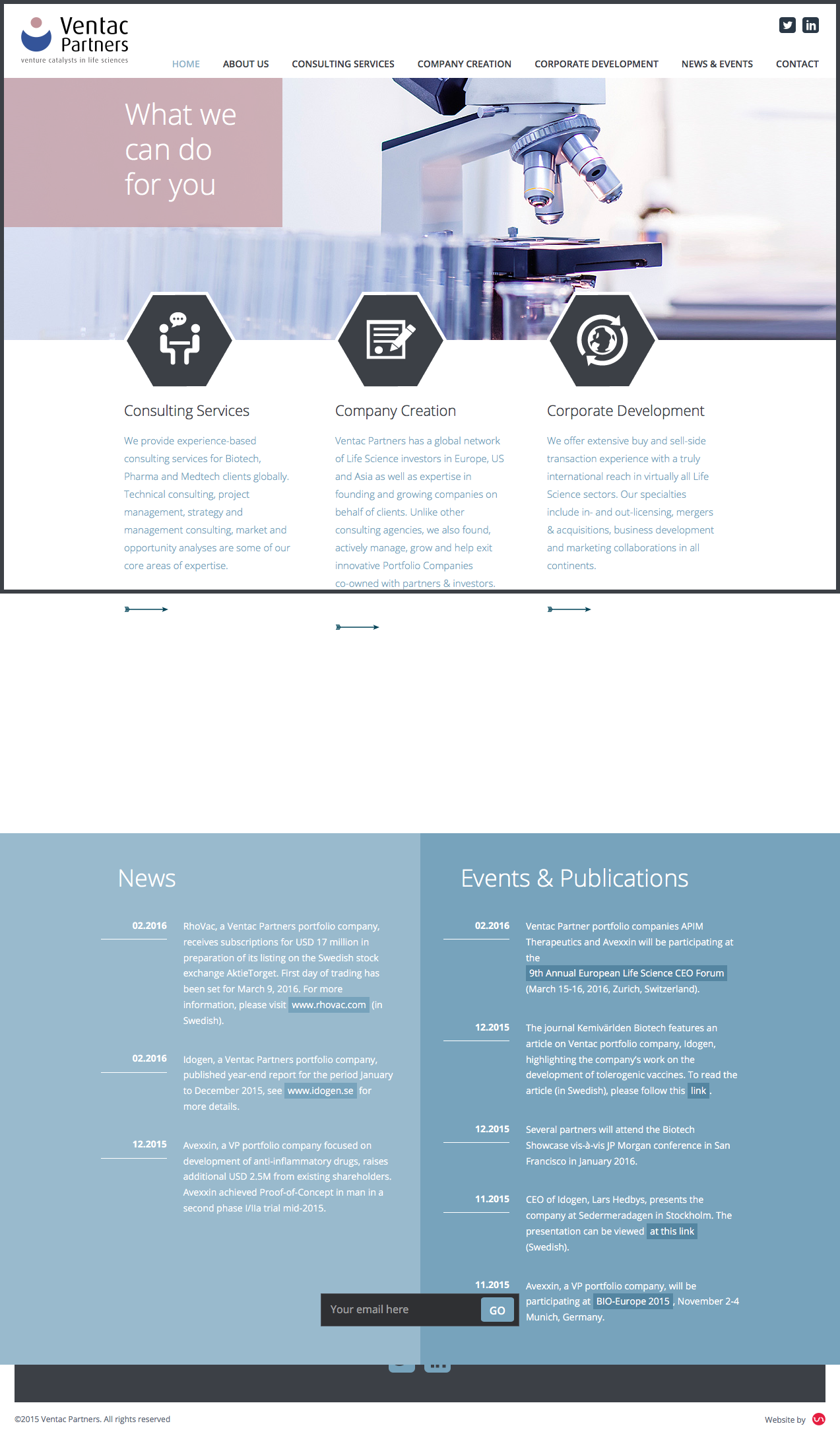 Ventac Partners Website By Youandi Graphics March For Science Web Design Development