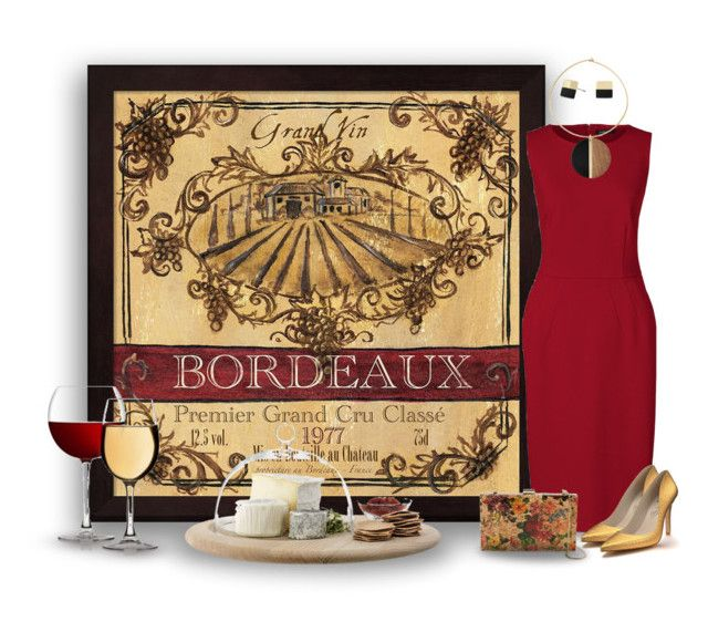 """""""Taste of Bordeaux"""" by joy2thahworld ❤ liked on Polyvore featuring Vince Camuto, Lands' End, Shoes of Prey, Sondra Roberts, Michael Kors, LSA International, bordeaux, statementnecklaces and winetasting"""