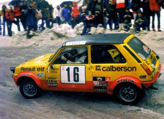 ra Guy Frequelin - Jacques Delaval-Renault 5 Alpine Gr.2-Rally Monte Carlo 1979