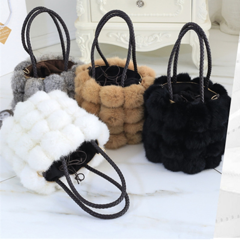 54.00$  Watch now - http://alie00.worldwells.pw/go.php?t=32758842611 - 2016 Sale Casual Polyester Unisex Solid No Soft Cell Phone Pocket Totes New Winter Plush Bag Shoulder Handbag Drawstring Bucket