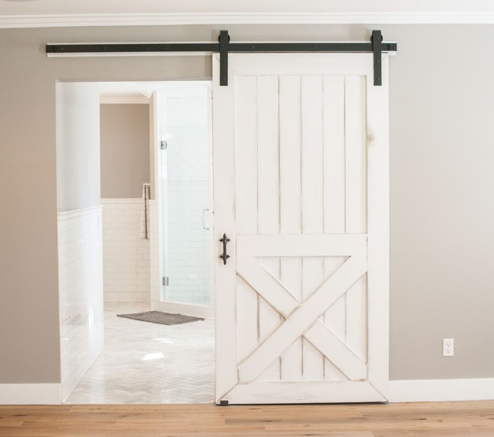 Barn Door Leading From Master Bedroom To Bathroom By Rafterhouse In