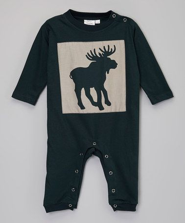Take a look at this Navy Moose Patch Playsuit - Infant by Calico Monkey on #zulily today!