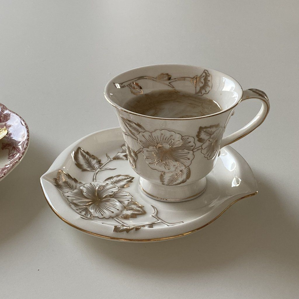 rose phnompenh coffeecup & saucer