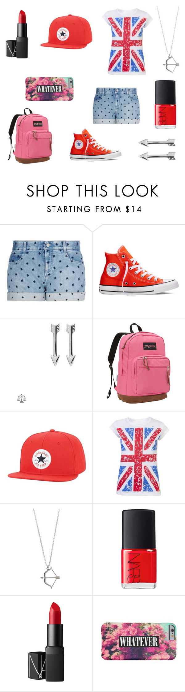 Adriana's first day of school by erin091203 on Polyvore featuring STELLA McCARTNEY, Converse, JanSport, SOPHIE by SOPHIE, NARS Cosmetics, women's clothing, women's fashion, women, female and woman