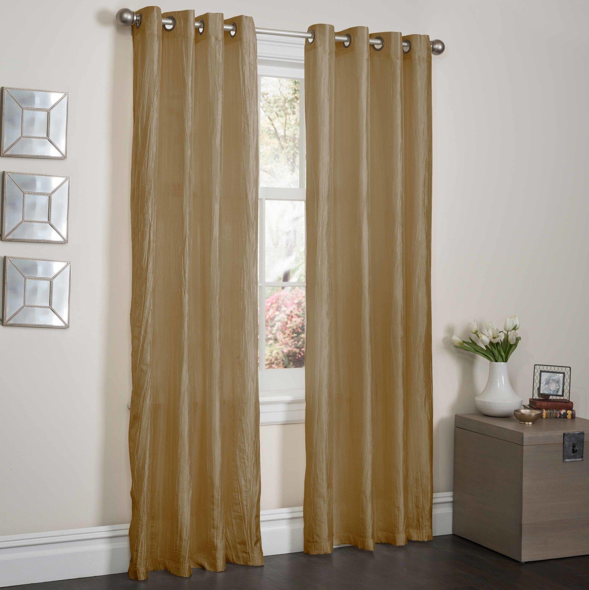 Sherry Crushed Satin Curtain Panel
