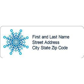 Templates  Snowflake Address Labels  Per Sheet  Avery  Diy