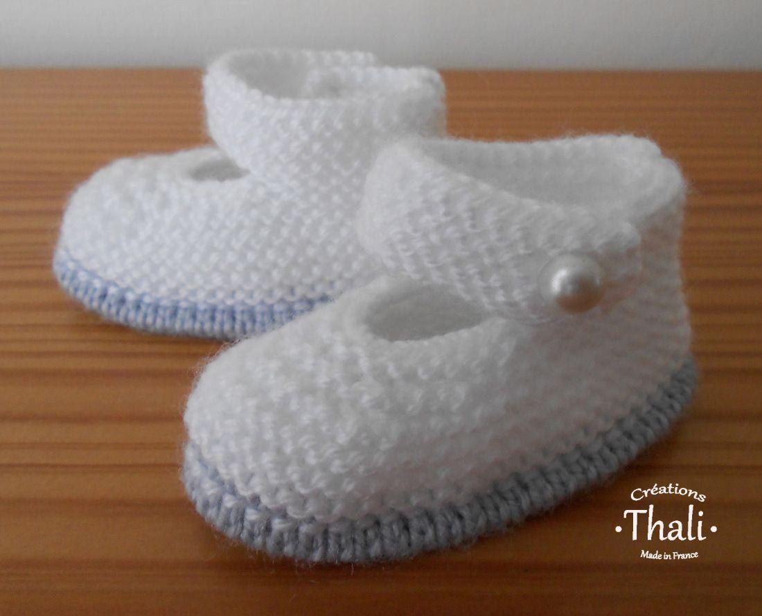 DSCN0711a | Bottines de bébé tricotées, Tricot chausson bébé, Tuto chaussons bebe tricot
