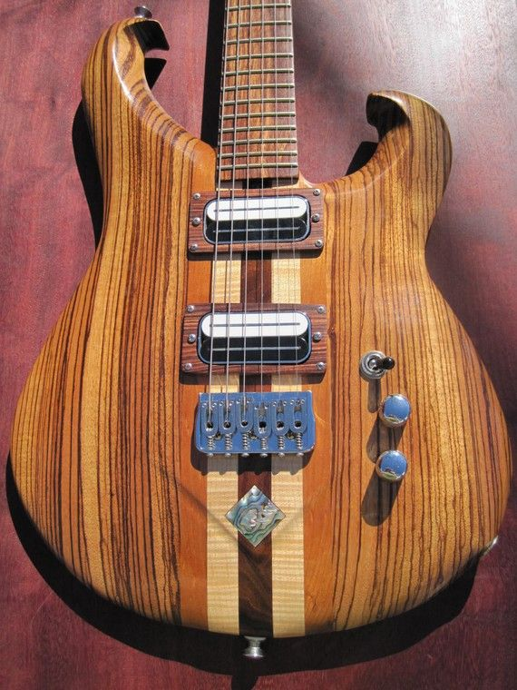 handmade wood electric guitar zebrawood top by inbloomdesigns everything i love. Black Bedroom Furniture Sets. Home Design Ideas