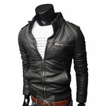 Motorcycle Leather Man Jackets Windproof 3 Color Slim Fit Retro Spring Men's PU Leather Jacket Casual Men Coat  From plonlineventures.com At Your Aliexpress link