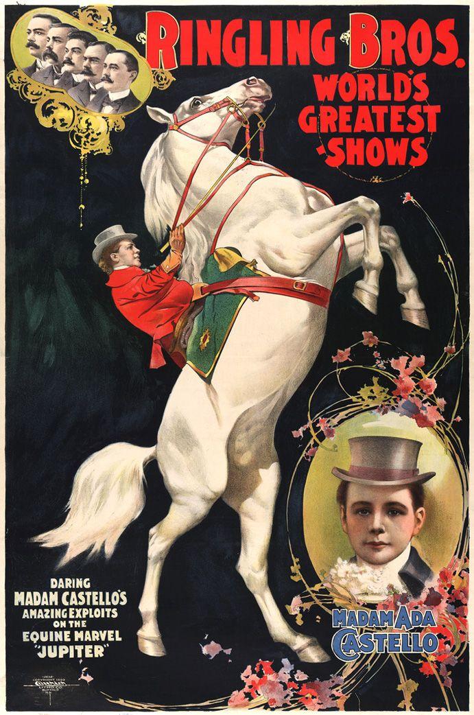 Propaganda antiga de Circo
