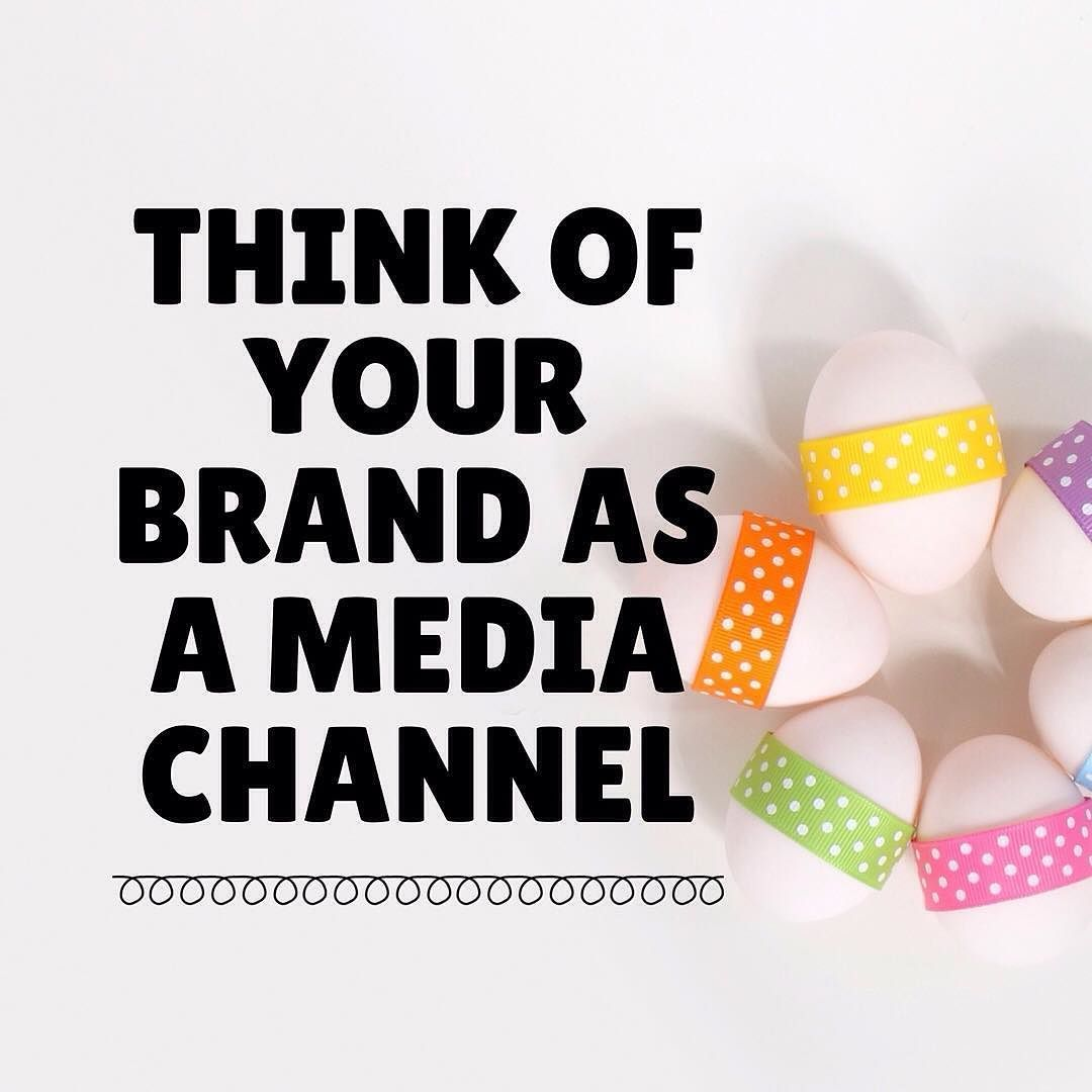 You are a media channel. #business #biztips