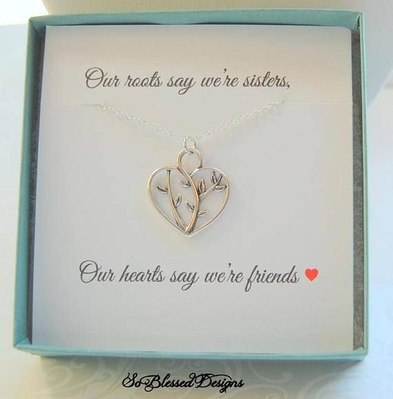 Gift For SISTER Sisters Jewelry Sister Poem Card Compass Necklace Gifts Her Under 30