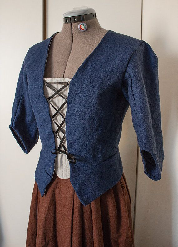 18th century jacket skirt and stomacher in brown or di IlFioreNero