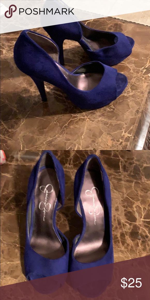 heels Jessica Simpson heels Blue suede