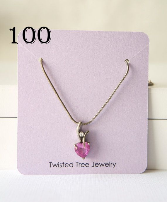 Custom Necklace Cards With Your Shop Name von TwistedTreeSupplies
