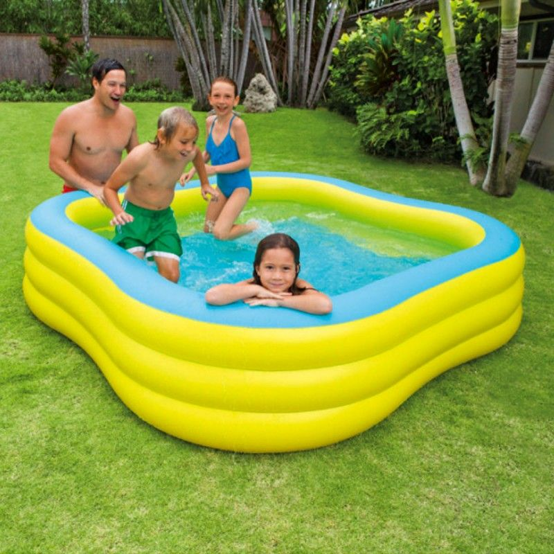 Piscine Gonflable Carree Hublot Jaune Piscine Gonflable