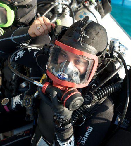 Amazon.com : OTS Guardian Full Face Mask (Black Skirt/Blue Hardware) : Full Face Diving Masks : Sports & Outdoors http://www.deepbluediving.org/best-scuba-diving-mask-reviews/