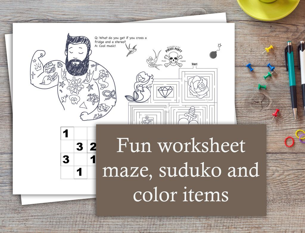 Pirate Worksheet For Kids