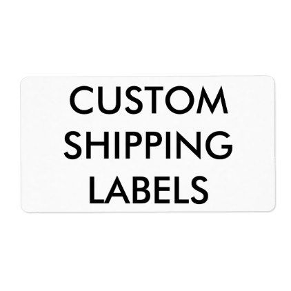 Custom Personalized Shipping Labels Blank Template ...